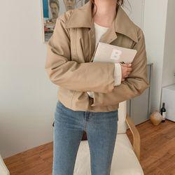 여자 겨울 색감좋은 데일리 빅카라 레더 라이더자켓