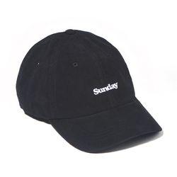 CORDUROY SUNDAY CURVED CAP-BLACK