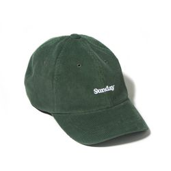 CORDUROY SUNDAY CURVED CAP-GREEN