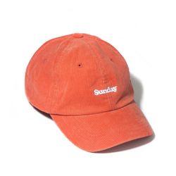 CORDUROY SUNDAY CURVED CAP-ORANGE