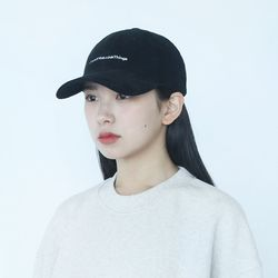 21AW CORDUROY REFRESH CORE CURVED CAP-BLACK