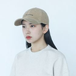 21AW CORDUROY REFRESH CORE CURVED CAP-BEIGE