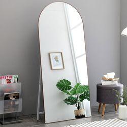 포그니 알루미늄 비산방지 타원형 전신거울 800x1800