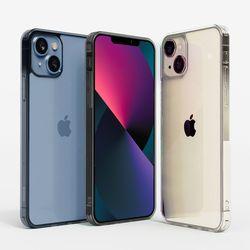 슈퍼쉘 아이폰 13 글라스 슬림 투명 케이스