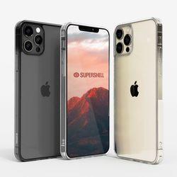 슈퍼쉘 아이폰 13 프로 글라스 슬림 투명 케이스