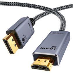 코드웨이 4K DP to HDMI 케이블 VER 2.0 1m