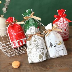 크리스마스 선물 포장지 OPP 사슴 리본포함 답례품