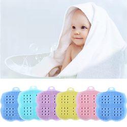 실리콘 아기 유아 목욕 타올브러쉬 랜덤2개 204514