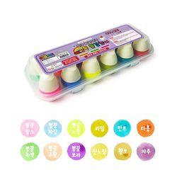 에그톡 물감놀이-빈센트(형광) 12칼라 영유아 물감 색칠놀이