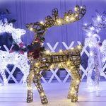 꽃사슴트리 50cm골드(전구포함) 크리스마스 장식 소품