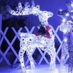 꽃사슴트리 50cm화이트(전구포함) 크리스마스 장식