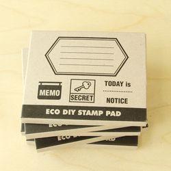 [클리어런스] ECO DIY STAMP PAD-MEMO