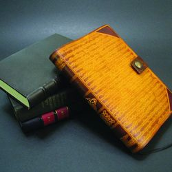 Handmade leather bookcover