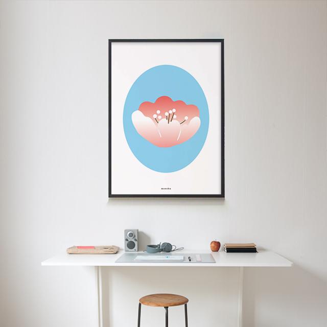 봄 벚꽃 M 유니크 인테리어 디자인 포스터 식물 - 모노하, 14,800원, 홈갤러리, 포스터
