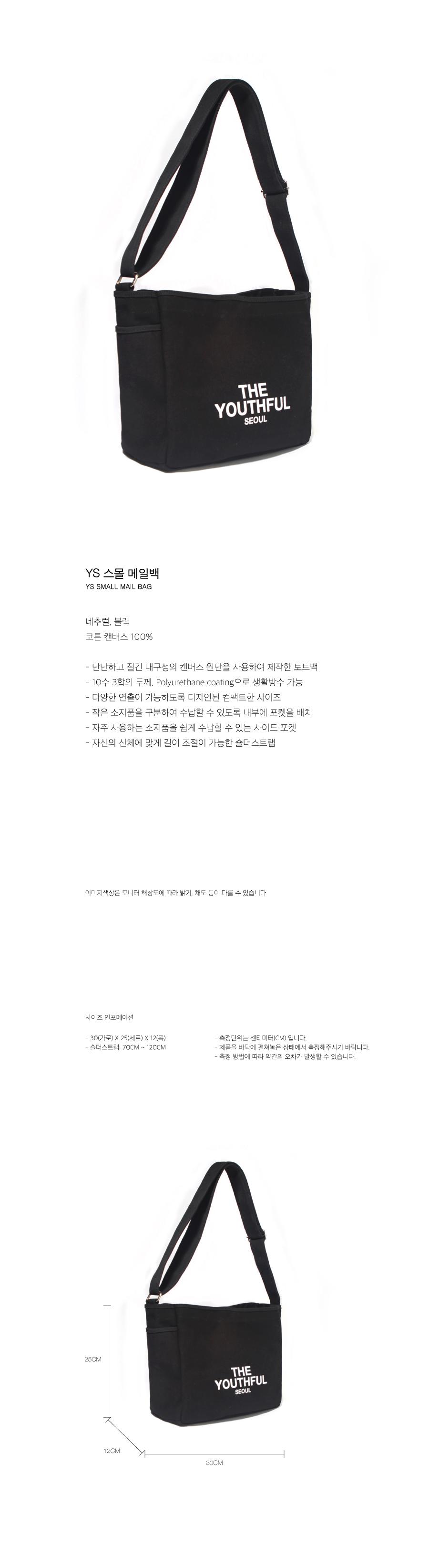 YS 스몰 메일백-블랙