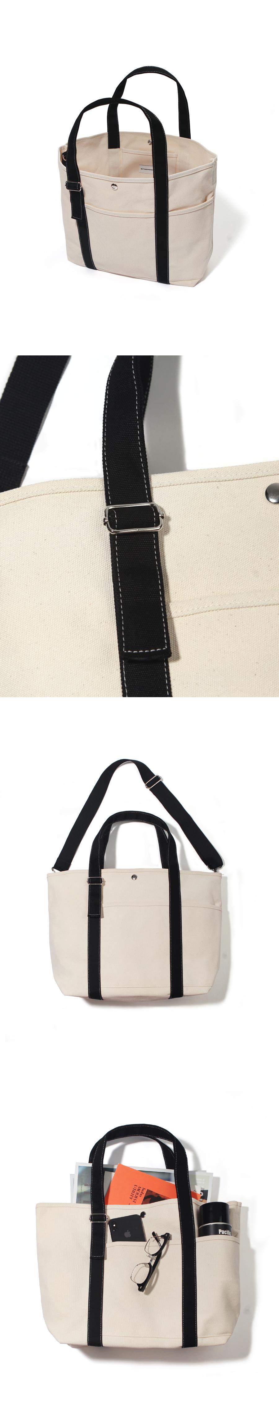 20 2포켓 베이직 토트-네추럴/블랙