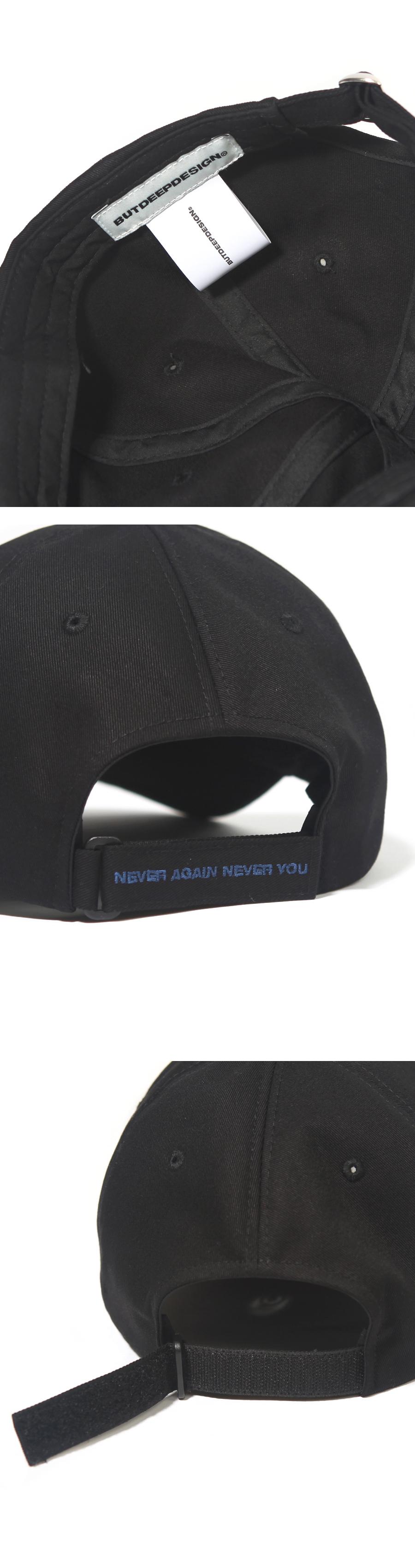 20AW 벨크로 웨이브 커브캡-블랙